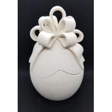 Uovo di pasqua tagliato con coccarda cm h12x7