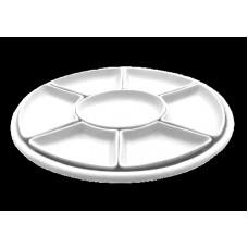 Antipastiera ovale componibile cm 47 tb 7 pz estraibili + vassoio