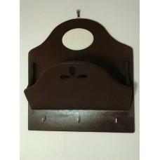 Porta posta e chiavi da muro con mattonella piatta ovale cm 9