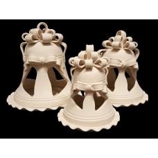 Campana porta candela con piattino grande cm 20x22h