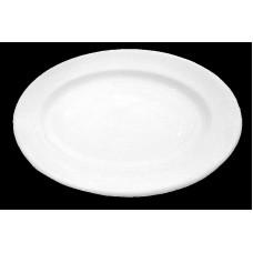 Piatto ovale da tavola liscio cm.24 tb