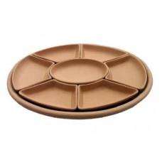 Antipastiera con vassoio ovale 7 pezzi cm 47