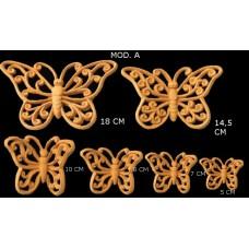 Farfalle traforate con ricci Mod. A