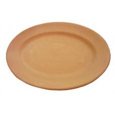 Piatto ovale da tavola liscio cm.24