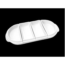 Antipastiera ovale 4 vaschette tb cm 32