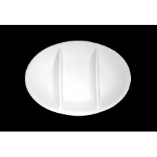 Oval starter dish 3 sector cm 27