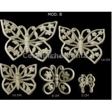 TB K030 / B - Openwork butterflies with flowers Mod. B