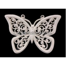 TB K030 / O - Large curly perforated butterfly 22 cm