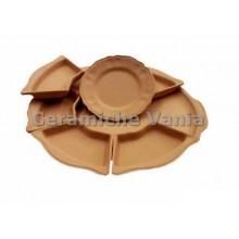 A022 - Round appetizer plate x 7 modular