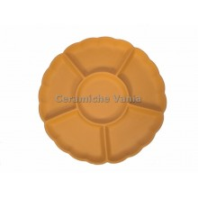 A074 - Round flower appetizer tray / 40.cm
