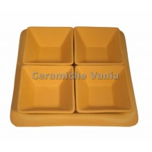 A075 - Square appetizer tray 4 trays / 26x26.cm