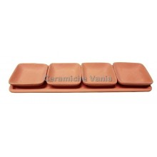 A126 - Rectangular appetizer tray with 4 trays / 34x10.cm