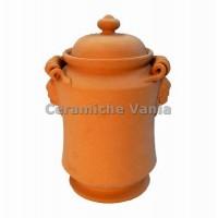 B056 / 25 - Jar with snake handles + masks / 25.cm