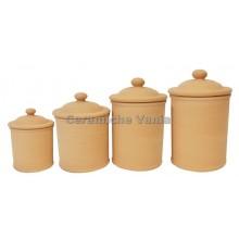 B135 / 1 - Cylindrical jar with airtight excavation / 10.cm