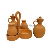C012 - Basket x 4 oil + vinegar