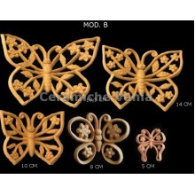 K030 / B - Openwork butterflies with flowers Mod. B