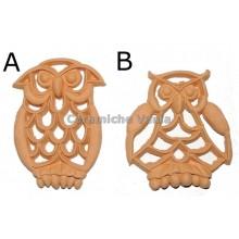 K044 / AG - Owl pierced Mod. A / 7.cm