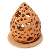 K063- Perfored candle holder