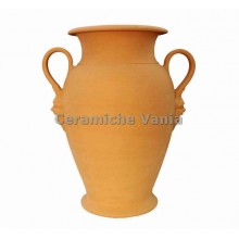 O006 - Orcio vase 2 handles with masks / 65.cm