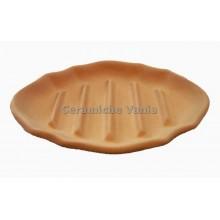 P067 - Oval striped soap dish