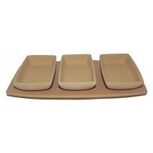 P135 / I - Rectangular sushi tray with 3 trays / 30x14.cm