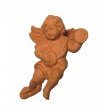W008 - Angel playing cymbals / 14.cm