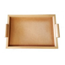LEG010 / G - Economic rectangular tray in natural color, useful size 30x45 cm