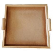 LEG009 - Economic square tray in natural color, useful size 30x30 cm