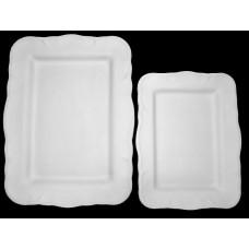 Large rectangular SIM serving tray