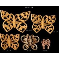 Farfalle traforate con fiori Mod. B