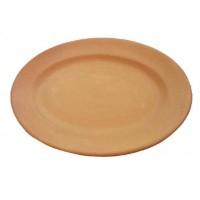 Piatto ovale da tavola liscio cm.30